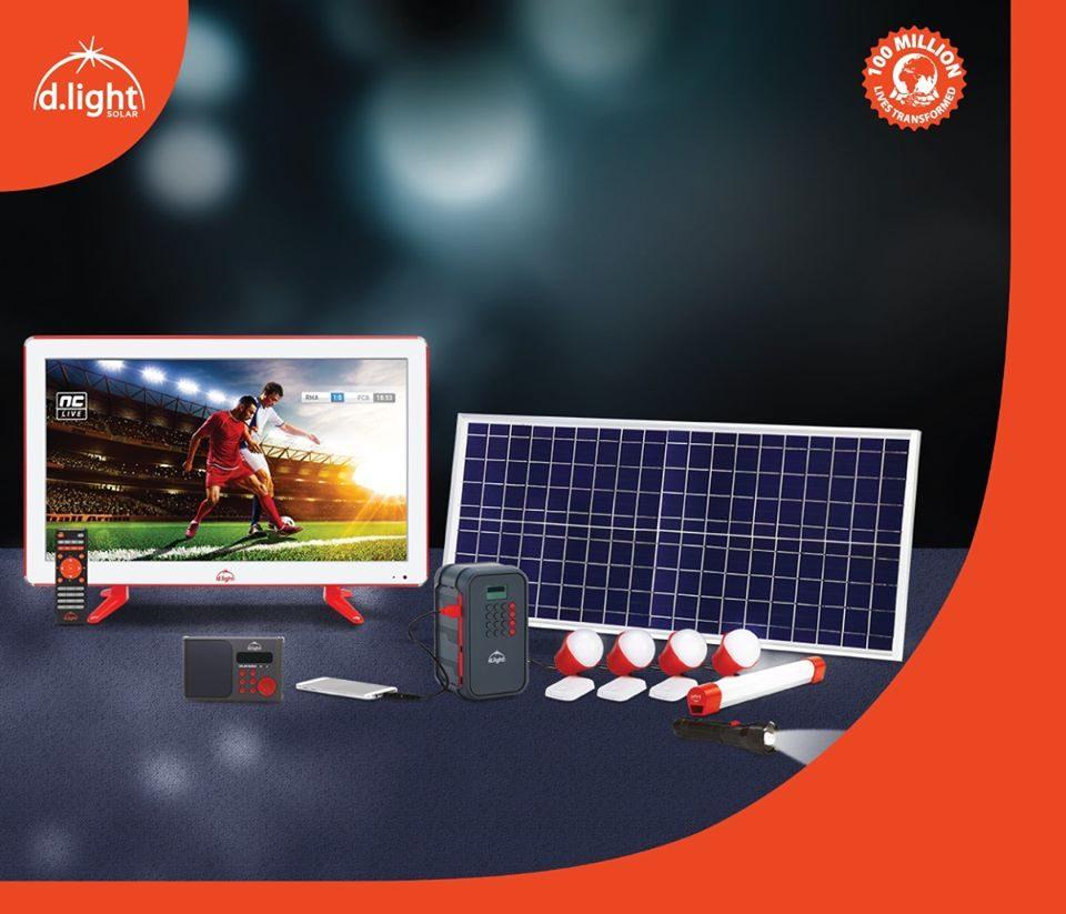 dlight x1000 solar TV