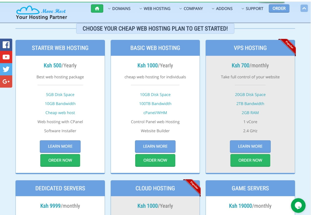 Movehost Hosting Prices