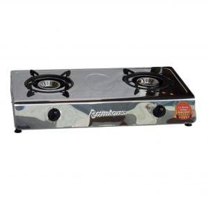 Ramtons RG/538 2 Burner Stainless Steel Gas Cooker