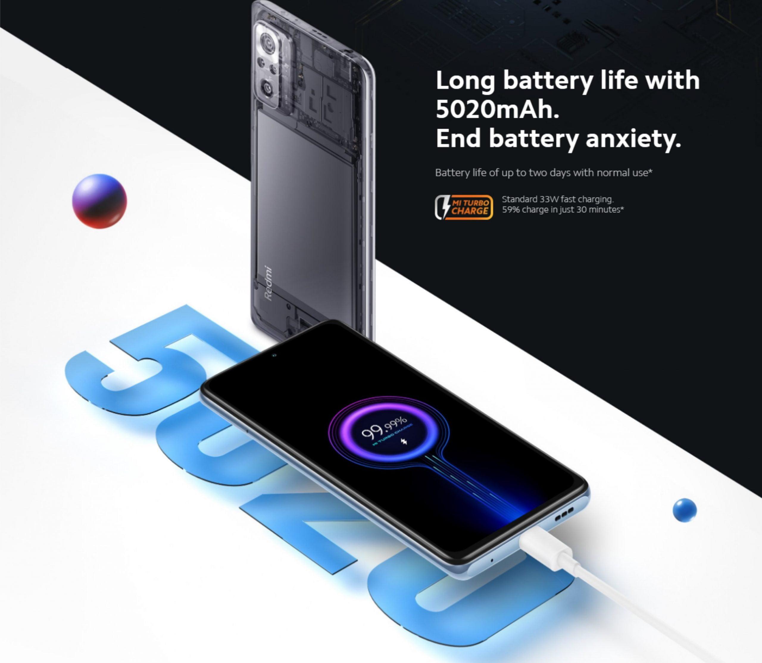 Redmi Note 10 Pro Battery