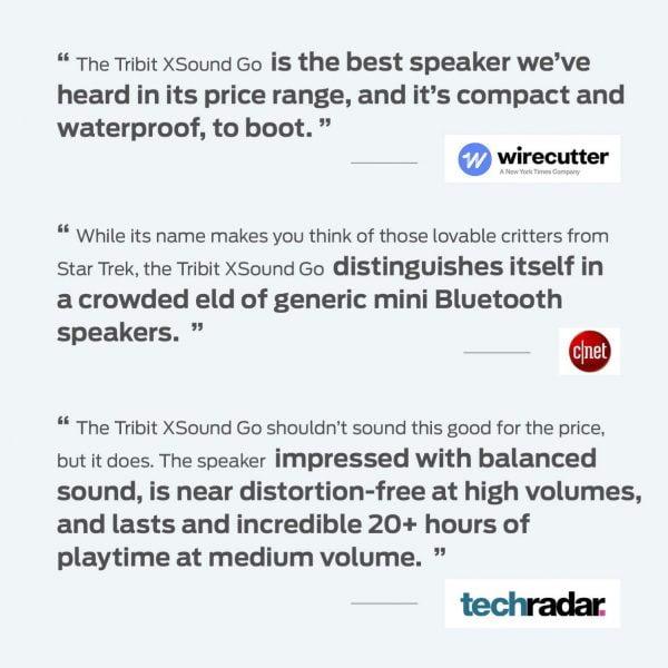 Tribit XSound Go Testimonials