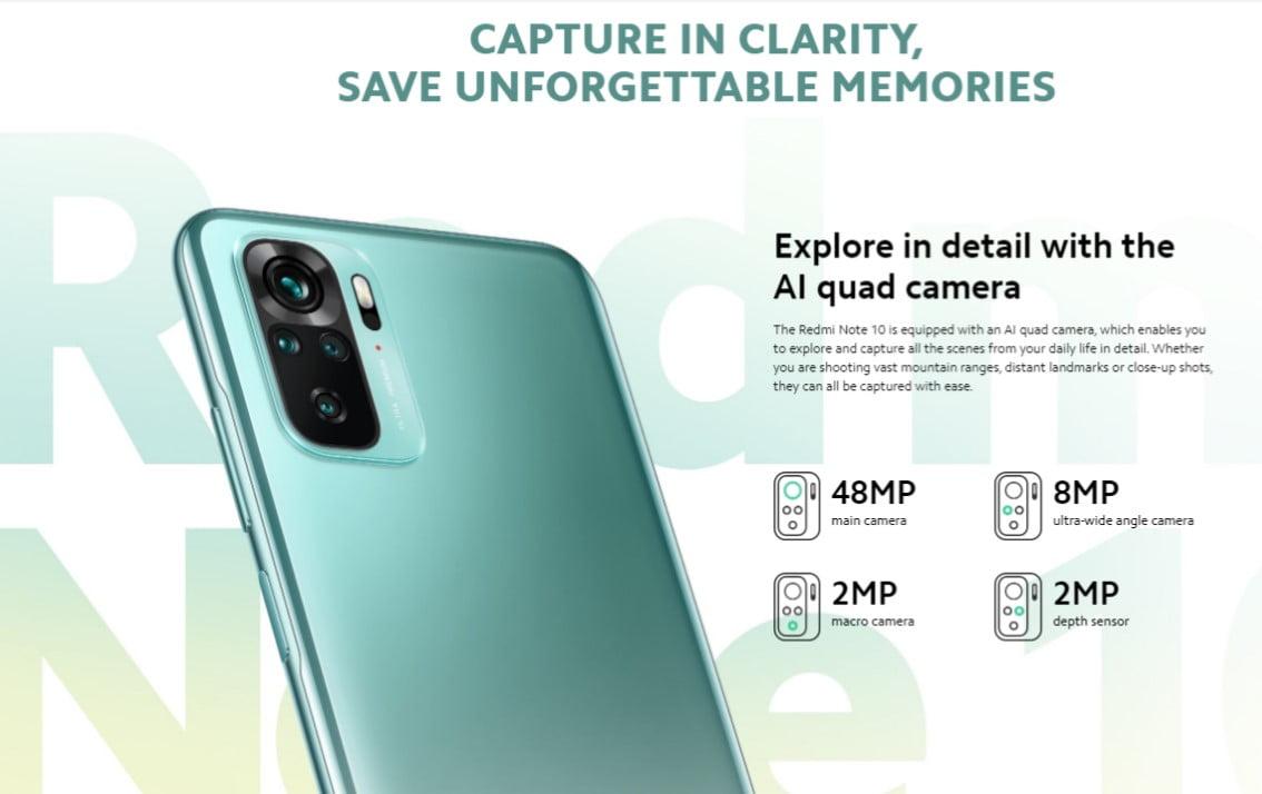 Xiaomi Redmi Note 10 Camera