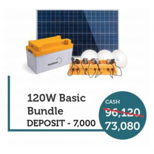 Mobisol 120W Basic Solar Package