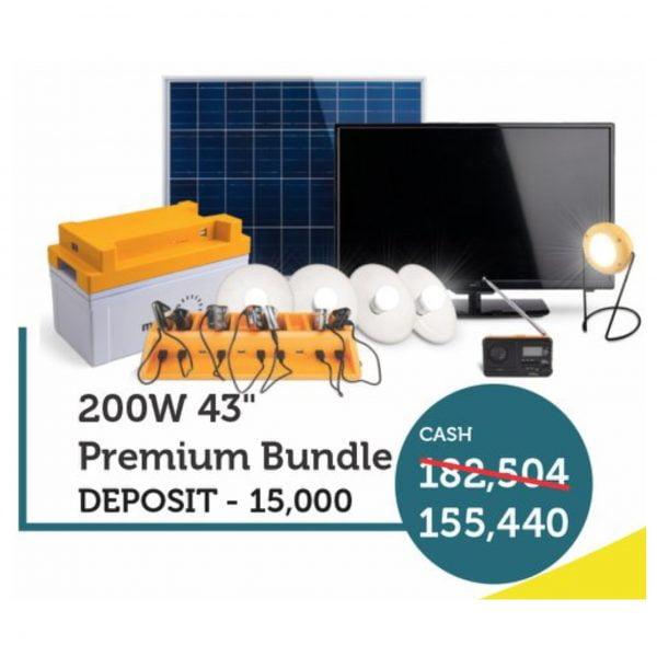 Mobisol 200W Solar 43 inch TV