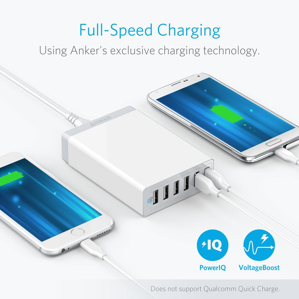 Anker Powerport 6 Charger Speed