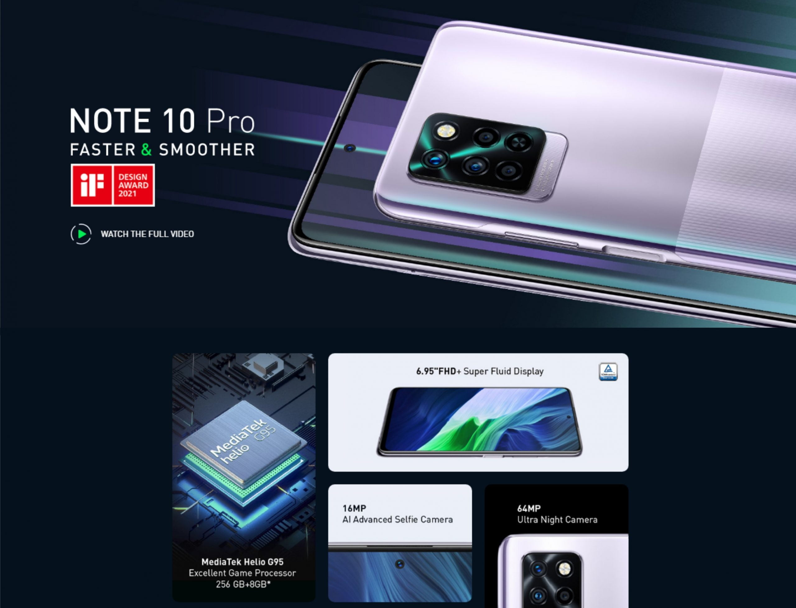 Infinix NOTE 10 PRO Features