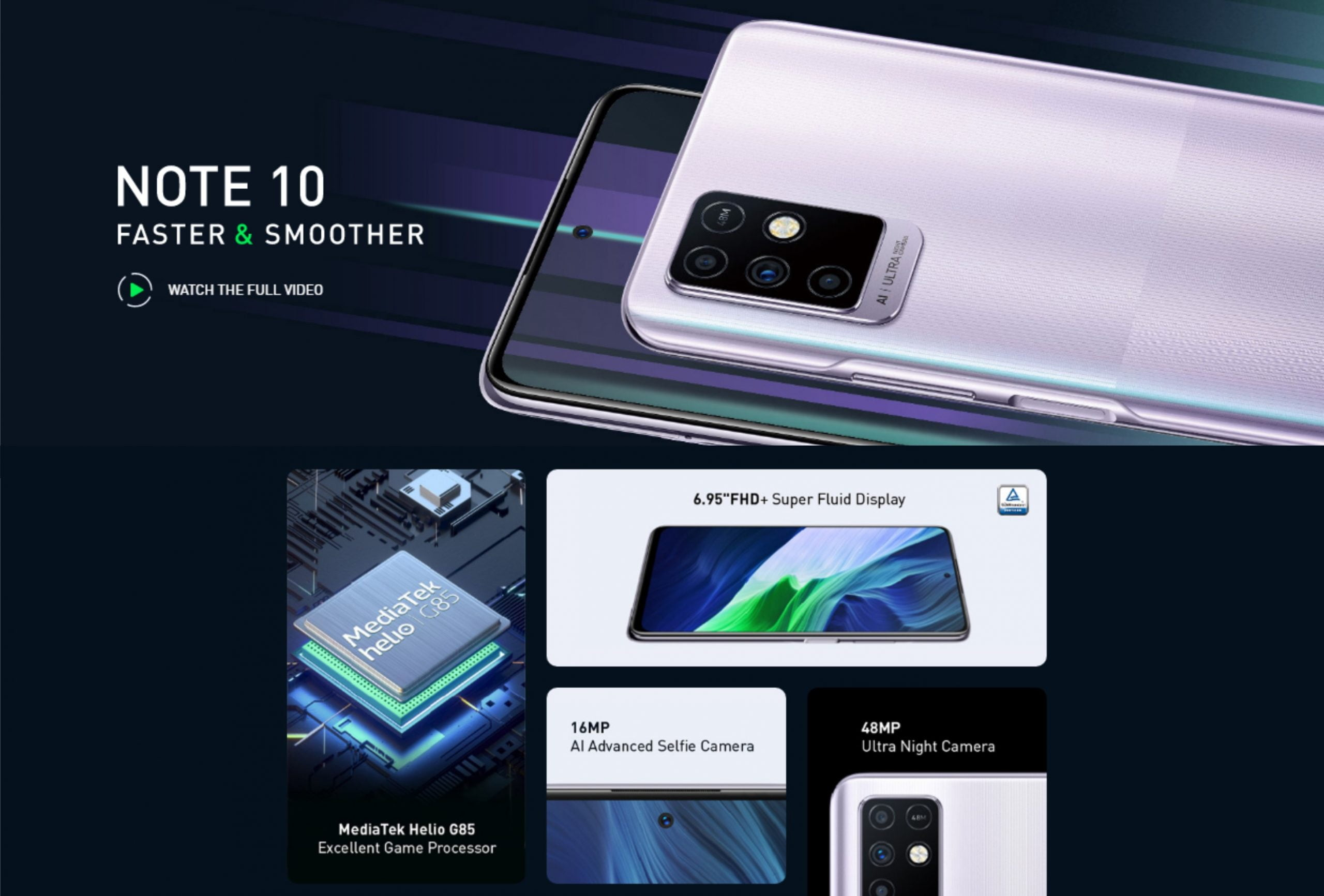 Infinix Note 10 Features