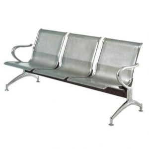 3-link nonpadded waiting bench