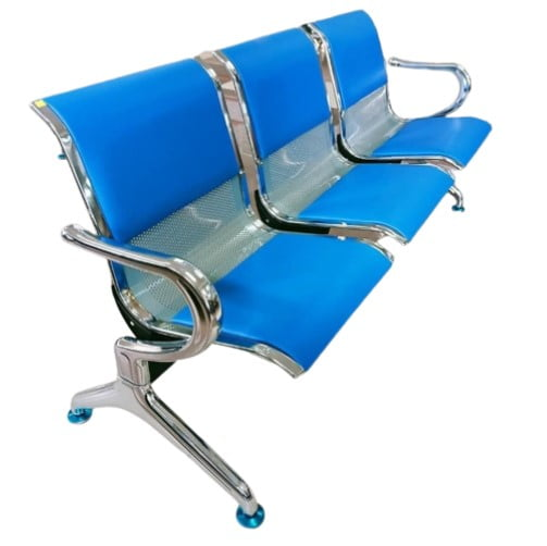 3-link padded waiting bench